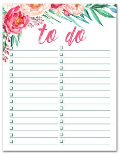8 Free Printable To-Do Lists