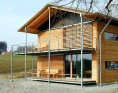 Allgäu-Haus: ecological and healthy building and living - Country House Earthship, Reading Room Decor, Wood Architecture, H & M Home, Facade House, Glass House, Ecology, Tiny House, Building A House