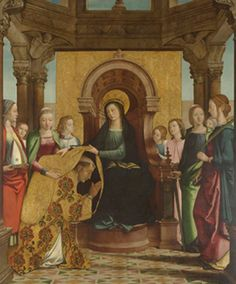 The Investiture of Saint Ildefonsus Spain History, Spanish Art, Saints, Museum, Artwork, Panel, Painting, Madrid, Collection