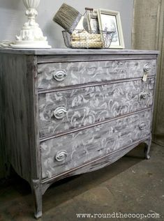Gorgeous Annie Sloan Chalk Paint Dresser done with a stencil!