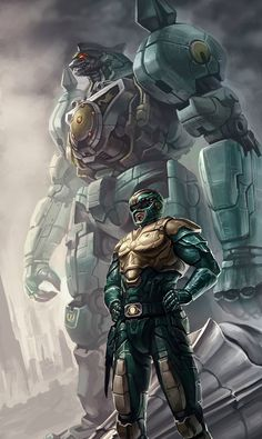 My favorite Ranger, and my favorite DinoZord. Though the White Ranger suit is still my favorite. Saba is by far my favorite Ranger weapon, He definitely had an abundance of sass and sarcasm. Go Go Power Rangers, Mighty Morphin Power Rangers, Ranger Verde, Foto Batman, Desenho Do Power Rangers, Green Power Ranger, Pawer Rangers, Geek Art, Cultura Pop