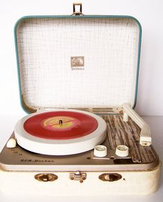 Vintage 1950s RCA Victrola Kid's Portable by BusyBreeVintage,