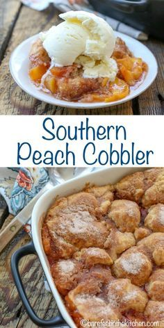 Best Southern Peach Cobbler - get the recipe at barefeetinthekitc The Best Southern Peach Cobbler - get the recipe at barefeetinthekitc.The Best Southern Peach Cobbler - get the recipe at barefeetinthekitc. Southern Desserts, Köstliche Desserts, Southern Recipes, Sweet Recipes, Delicious Desserts, Southern Thanksgiving Recipes, Deep Fried Desserts, Dessert Recipes, Apple Desserts