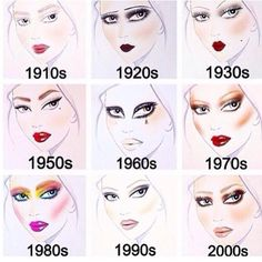 Which makeup do you like?..... Mine is 20's and 70's                                                                                                                                                                                 More