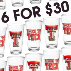 Check out this great Texas Tech glasswear! Mix and match your favorites!