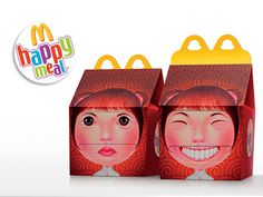 Packaging of the World: Creative Package Design Archive and Gallery: McDonald's Happy Meal (Concept) Cardboard Packaging, Paper Packaging, Food Packaging, Brand Packaging, Design Packaging, Product Packaging, Web Design, Label Design, Creative Design