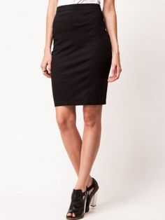 KOOVS Poplin Pencil Skirt