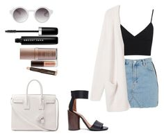 """""""Shooping Day"""" by rafaelamjk ❤ liked on Polyvore featuring Topshop, Givenchy, Monki, Miss Selfridge, Yves Saint Laurent, Marc Jacobs and Laura Mercier"""