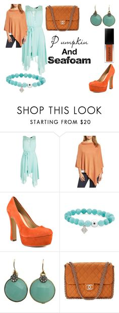 """""""Pumpkin and seafoam"""" by nieces2 ❤ liked on Polyvore featuring City Chic, Eileen Fisher, Chinese Laundry, Blue Candy Jewelry and Chanel"""