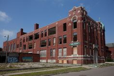Abandoned East Catholic High School-Detroit,Michigan (While scrapping had started several years ago, it wasn't until the spring of 2011 that the Archdioscese seemingly gave up on securing East Catholic)