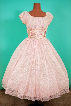 1950s Pink New Look Party Dress with Shelf Bust, Party, Wedding, Prom, Bridesmaid,