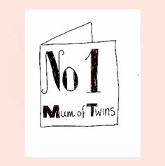 No 1 MUM of Twins Card Mothers, Personalized Gifts, First Love, Twins, Unique Gifts, Bed, Cards, Customized Gifts, First Crush