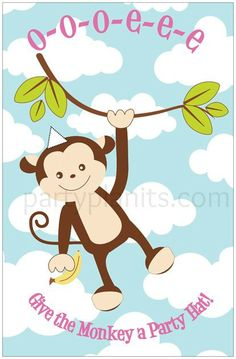 Monkey Birthday Party Game Give the Monkey a by PartyPlanItDesigns, $16.00
