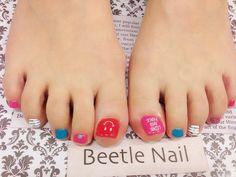 Nail Art - Beetle Nail : 八日市arte|カジュアル♡ニコちゃんネイル