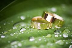 Rings on a rainy wedding day - photo by Grotografie