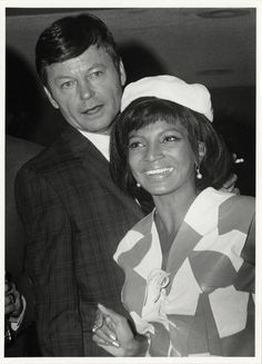 classictrek: DeForest Kelley and Nichelle Nichols date...