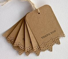 Kraft thank you tags
