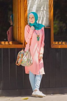 Colorful casual hijab summer wear – Just Trendy Girls