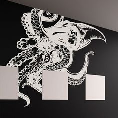 Giant Octopus 54x60 White, $79.95, now featured on Fab.
