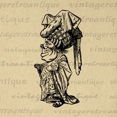 Printable Graphic Alice in Wonderland Duchess Download Image Illustrated Digital Vintage Clip Art Jpg Png Eps  HQ 300dpi No.1843 @ vintageretroantique.com #DigitalArt #Printable #Art #VintageRetroAntique #Digital #Clipart #Download