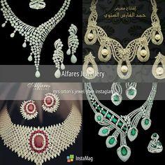 Beautiful sets of jewels by @alfaresjewellery