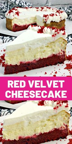 Knock You Naked Red Velvet Cheesecake! Sweet Desserts, No Bake Desserts, Just Desserts, Sweet Recipes, Delicious Desserts, Dessert Recipes, Red Velvet Cheesecake, Velvet Cake, Best Christmas Recipes