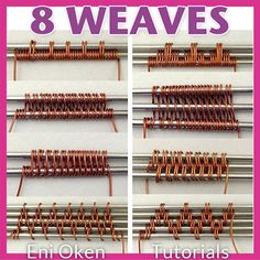 Etsy の 8 Classic Wire Weaves PDF tutorial by EniOken