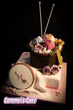 Embroidery cake - by caramelscake @ CakesDecor.com - cake decorating website