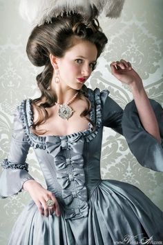 Stunning Blue Rococo Gown.