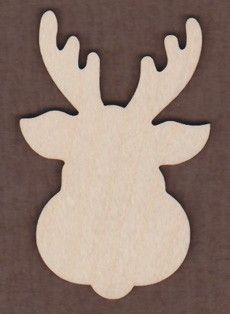 Tole Painted Wood Reindeer Face Ornament by JuliesCraftShop ...