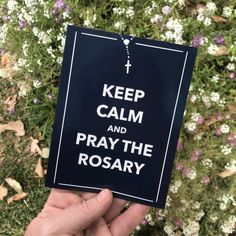 Praying The Rosary, Holy Rosary, Rosary Catholic, Keep Calm, Letter Board, Magnets, Homeschool, Stress, Stay Calm