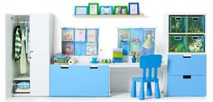Visit IKEA Store for all types of kid's furniture in Dubai. Browse our website for a range of nursery furniture for baby and children of all ages - & Childrens Bedroom Furniture, Kids Furniture, Kids Bedroom, Luxury Furniture, Playroom Storage, Kids Storage, Bedroom Storage, Chambre Nolan, Ikea Kids Room
