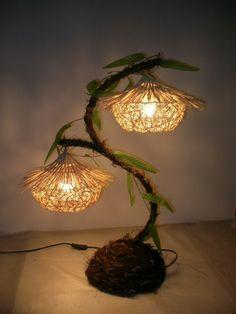 kreativ handgemacht Lampen blume