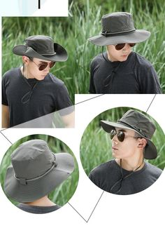 32c7f234 4 color Men s outdoor sun hat visor wholesale fisherman hat hiking cap sun  hat for fish