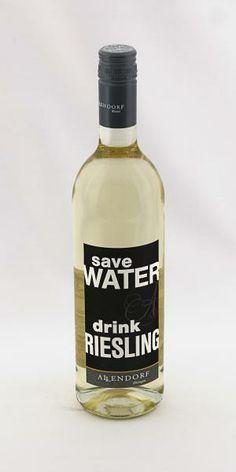 2012 SAVE WATER DRINK RIESLING fruity - Allendorf Fruchtig - Weingut Fritz Allendorf