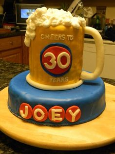 Beer Mug Cake. Cheers to 30 Years!