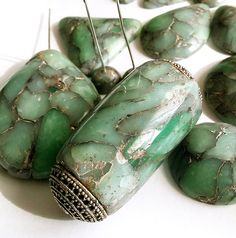 Faux Raw Emerald with Gold inclusion | Polymer clay faux sto… | Flickr