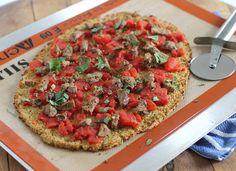 healthi pizza, cauliflow crust, cauliflower pizza crust paleo, crust pizza, food, pizzas, cauliflow pizza, paleo cauliflower pizza crust, crusts