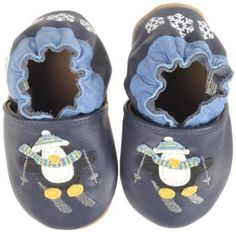 Robeez Soft Soles Skiing Penquin Crib Shoe (Infant/Toddler): Shoes