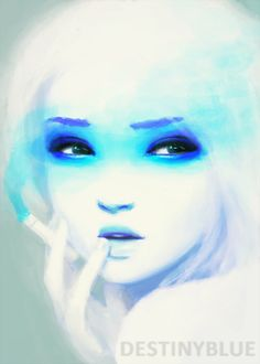 """Smokey Eyes by DestinyBlue.deviantart.com  """"Smokey eyes and long goodbyes... She painted her eyes smokey and held her cigarette close, hoping both would disguise the shine of her eyes"""""""