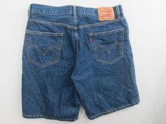 Levi 550 Denim Dark Jean Short Relaxed Fit Cotton Red Tab Men's Size 36X9.5 #479 #Levis #Denim