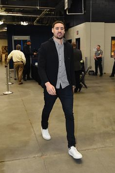 Klay Thompson of the Golden State Warriors is seen before the game against the Oklahoma City Thunder on February 11 2017 at Chesapeake Energy Arena...