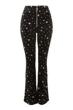 Star Velvet Flared Trousers