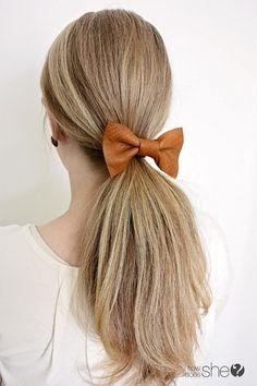 emily leather hair bow (8)
