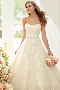 Wedding gown by Stella York