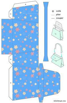 Handbag template to print and cut out on card stock Envelope Template Printable, Decorated Gift Bags, Paper Purse, How To Make Paper Flowers, Free To Use Images, Scan And Cut, Purse Tutorial, Easy Paper Crafts, Diy Purse