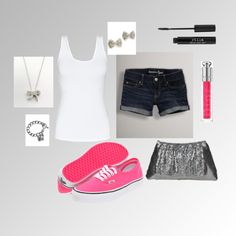 Pop of Pink, created by me on Polyvore
