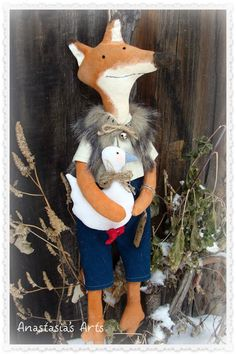 Primitive Fox - FREE PATTERN ~ Country Crow
