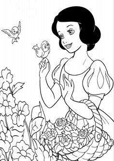 kolorowanki Królewna Śnieżka Disney, malowanka do wydruku