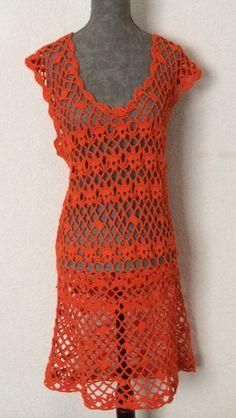 https://www.facebook.com/pages/Froufrous-Pompons-e-Outros/399302620230445 Vestido em Crochet
